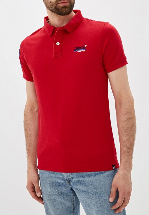 Фото - Мужское поло Superdry красного цвета
