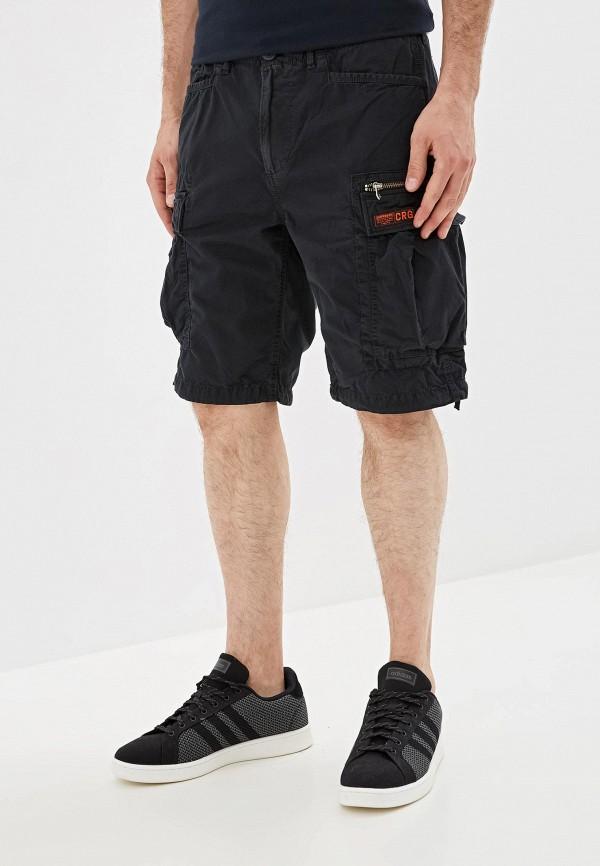 мужские повседневные шорты superdry, черные