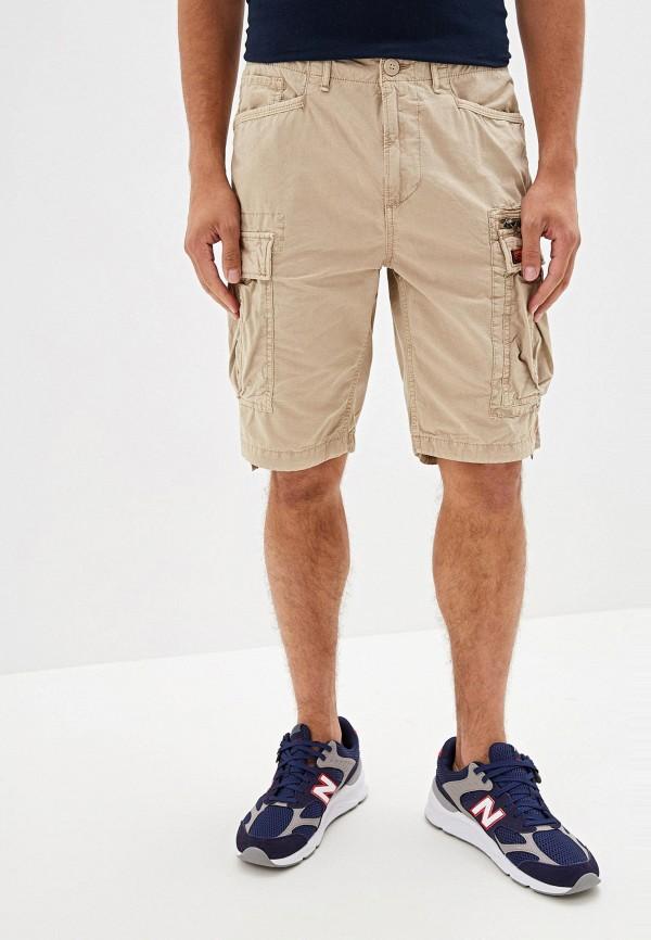 Фото - Мужские шорты Superdry бежевого цвета