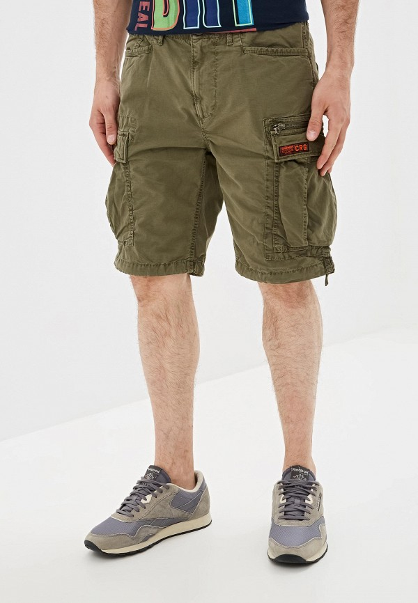 мужские повседневные шорты superdry, хаки