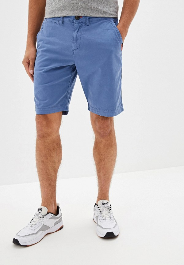 мужские повседневные шорты superdry, голубые