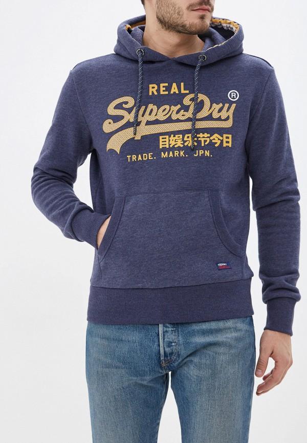 мужские худи superdry, синие