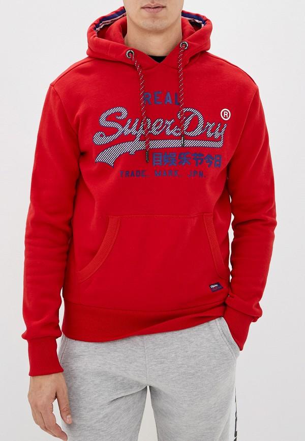 мужские худи superdry, красные