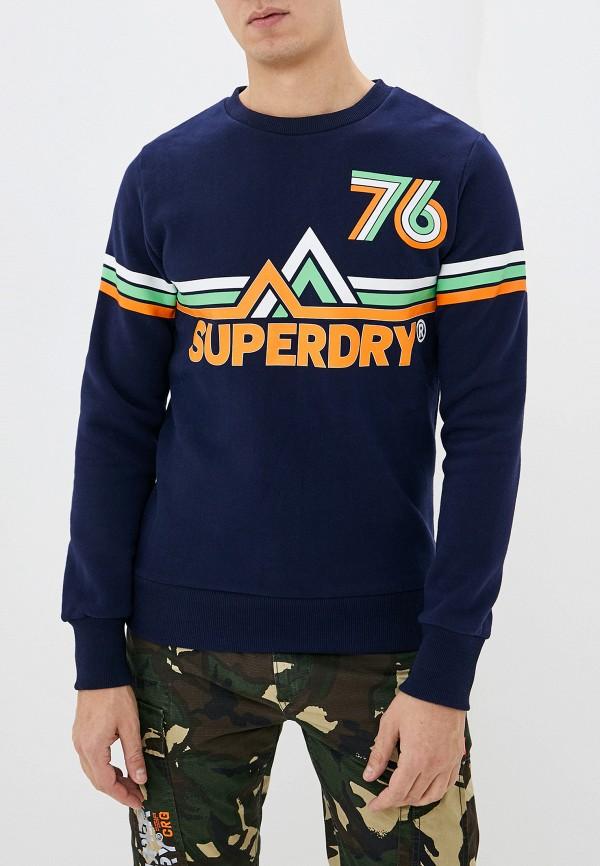 мужской свитшот superdry, синий