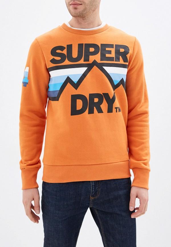 мужской свитшот superdry, оранжевый