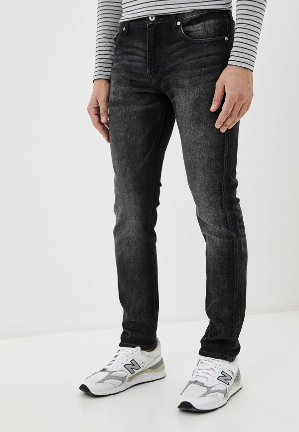 мужские зауженные джинсы superdry, серые