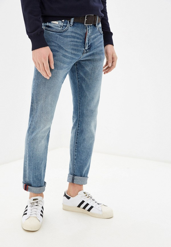 мужские зауженные джинсы superdry, синие