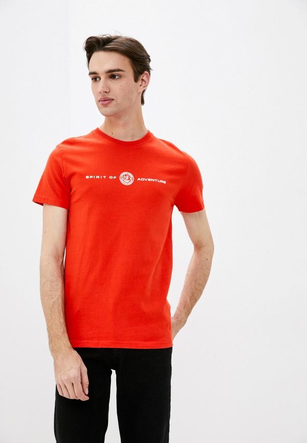 мужская футболка с коротким рукавом superdry, оранжевая