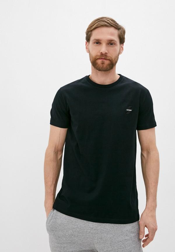 мужская футболка с коротким рукавом superdry, черная