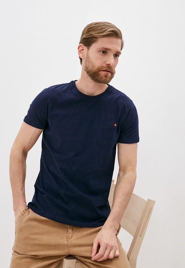 мужская футболка с коротким рукавом superdry, синяя