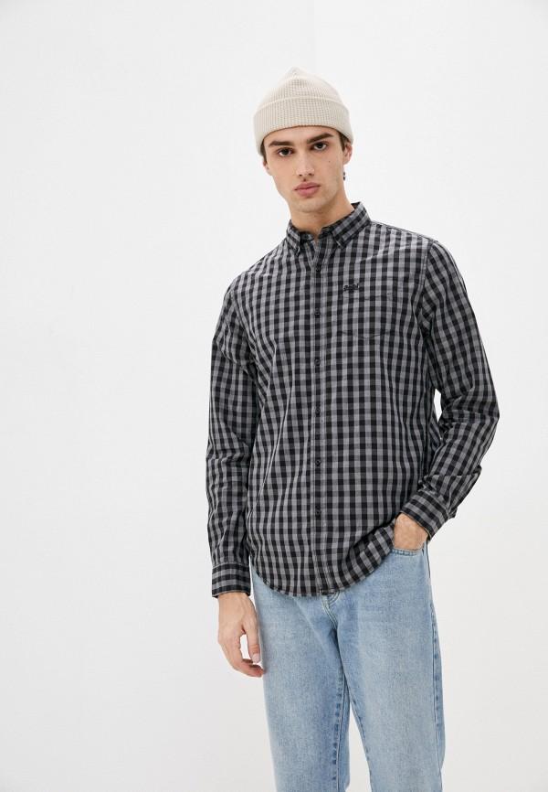 мужская рубашка с длинным рукавом superdry, серая
