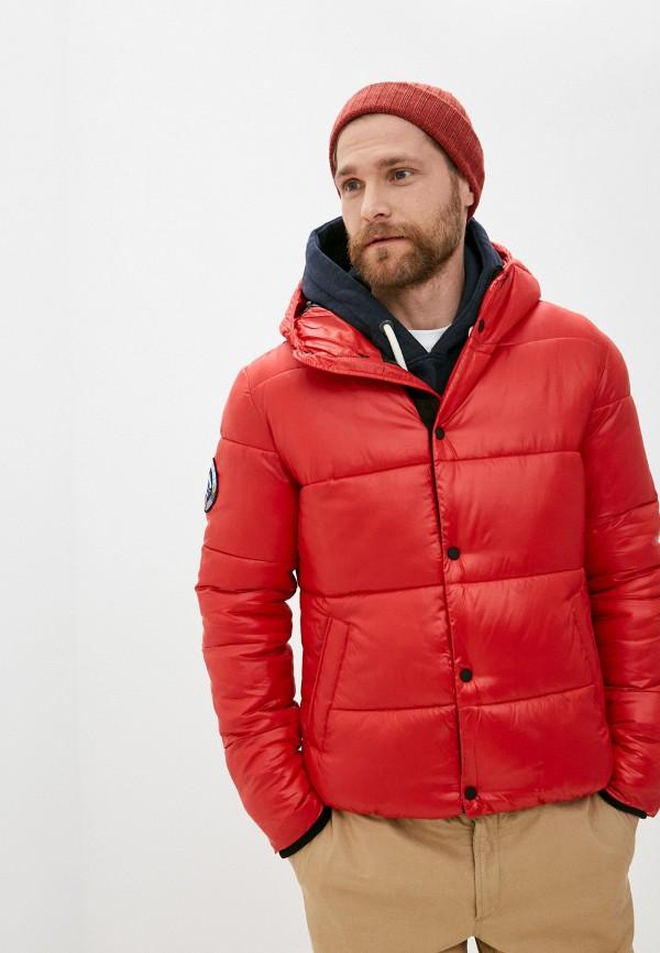 мужская куртка superdry, красная