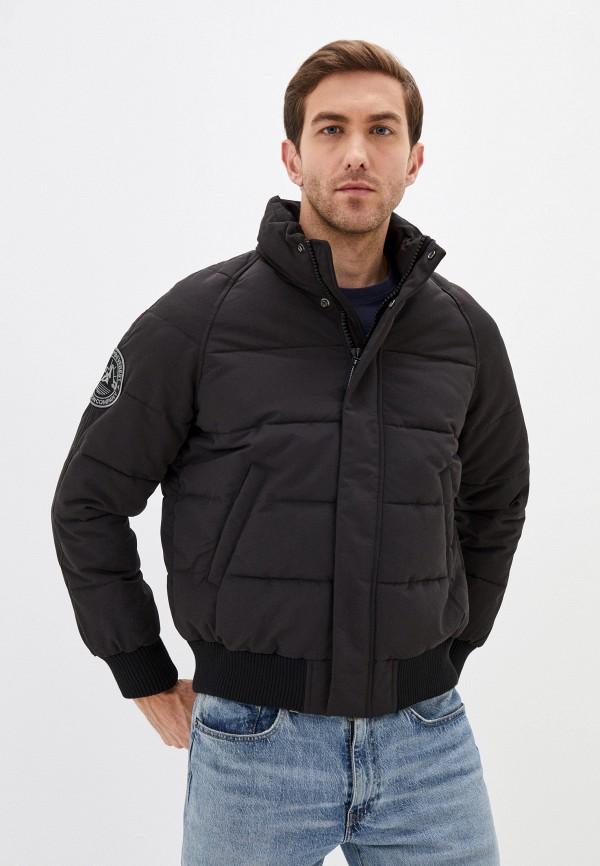 мужская куртка superdry, черная