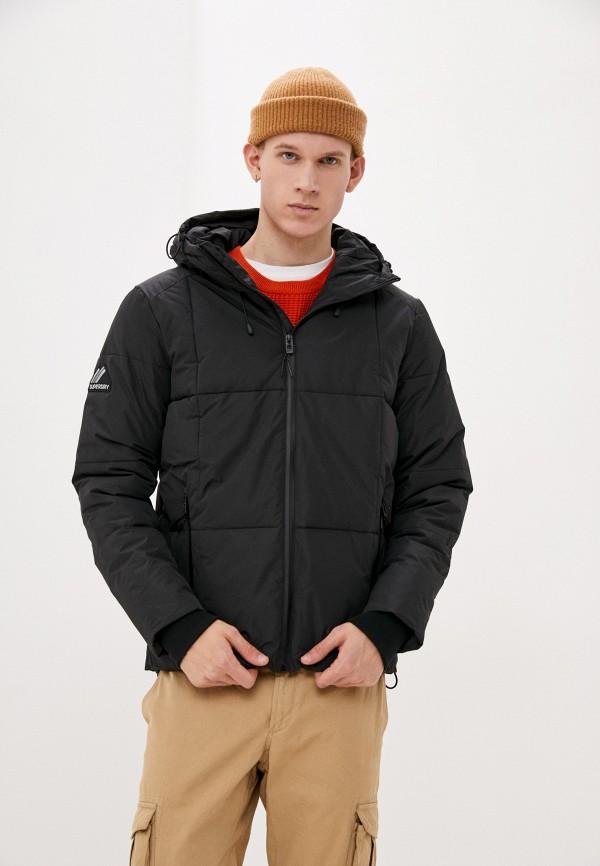 мужская куртка superdry, серебряная
