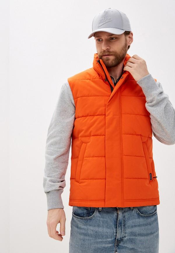 мужской жилет superdry, оранжевый