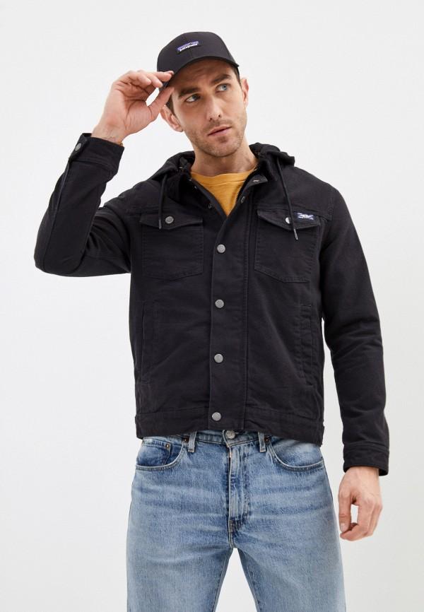 мужская джинсовые куртка superdry, черная