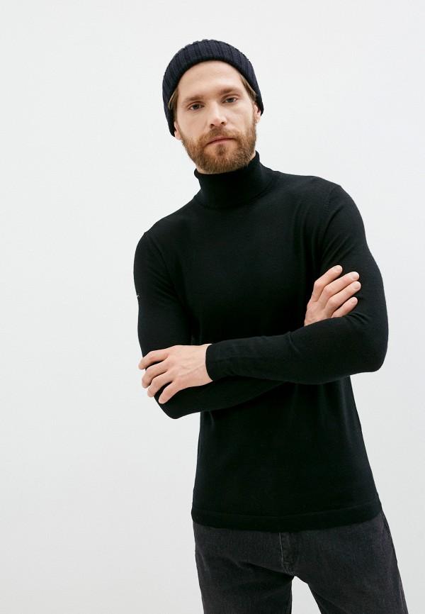 мужская водолазка superdry, черная