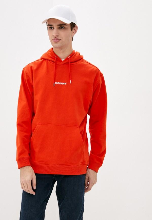 мужские худи superdry, оранжевые