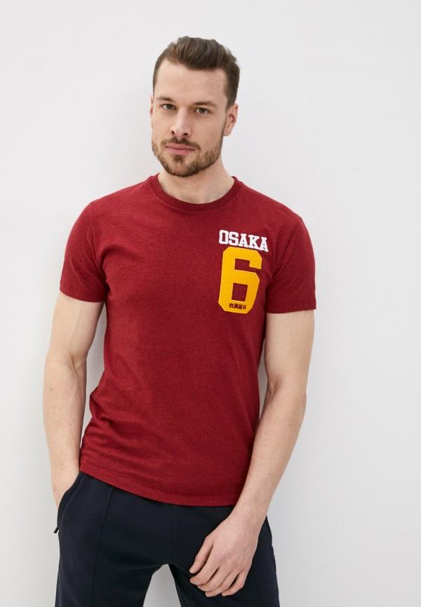 мужская футболка с коротким рукавом superdry, бежевая
