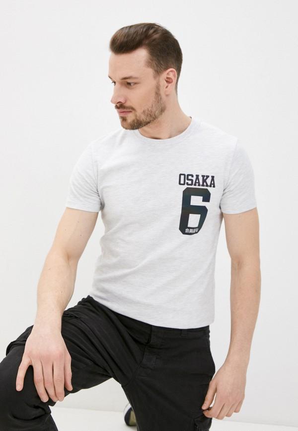 мужская футболка с коротким рукавом superdry, серая