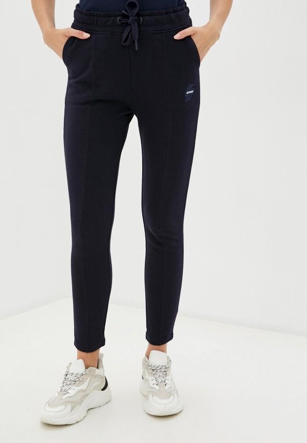 женские спортивные брюки superdry, синие