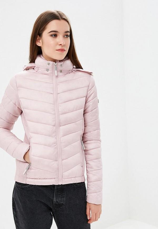 женская куртка superdry, розовая