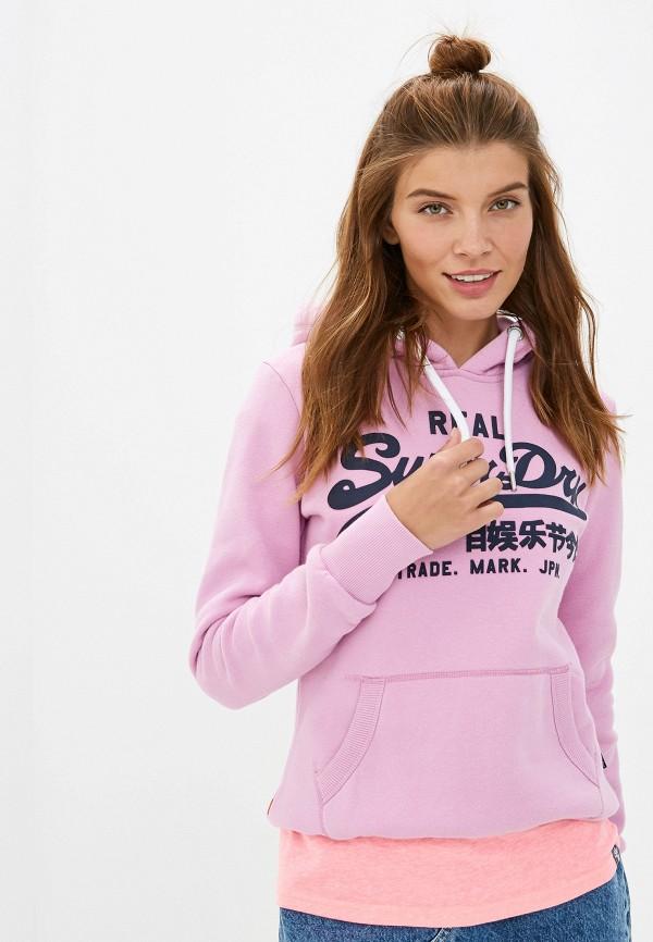 женские худи superdry, розовые
