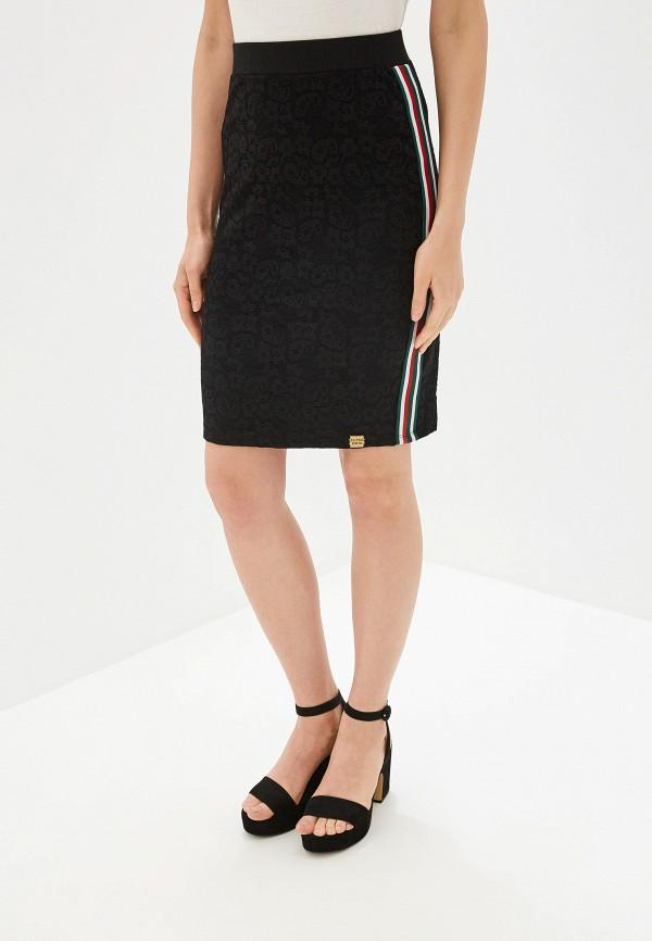 женская зауженные юбка superdry, черная