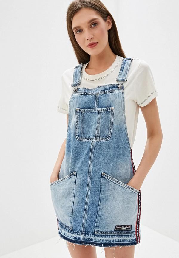 Фото - Платье джинсовое Superdry голубого цвета