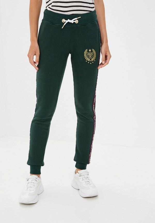 женские спортивные спортивные брюки superdry, зеленые