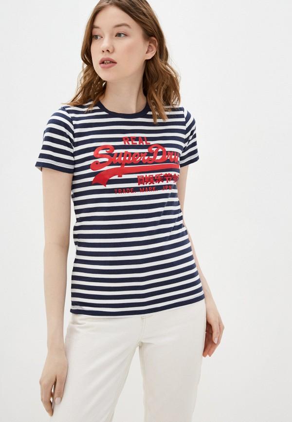 женская футболка superdry, черная