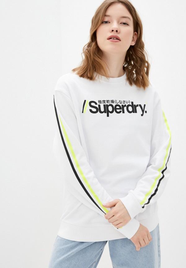 женский свитшот superdry, белый