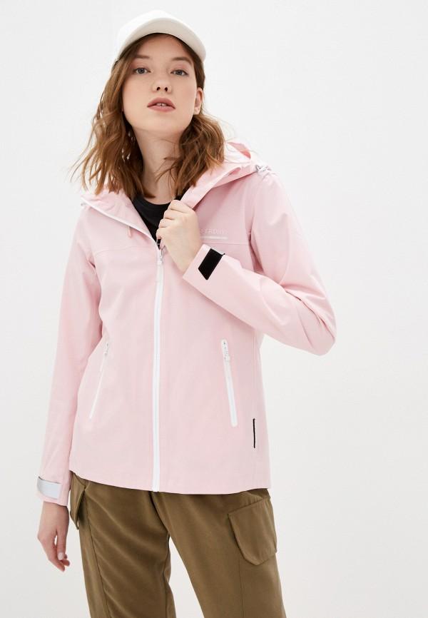 женская ветровка superdry, розовая