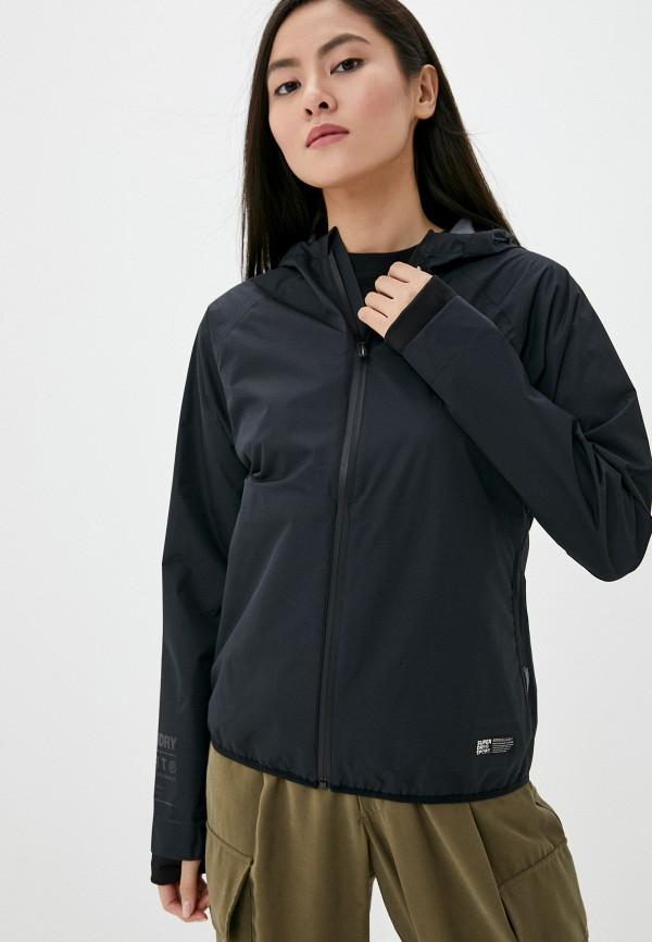 женская куртка superdry, черная