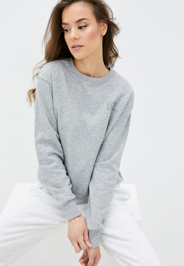 женский свитшот superdry, серый
