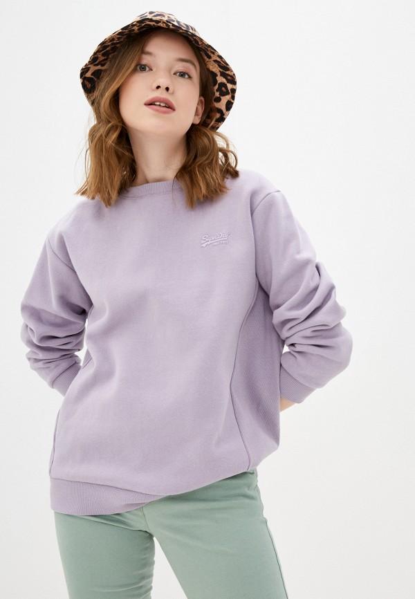 женский свитшот superdry, фиолетовый