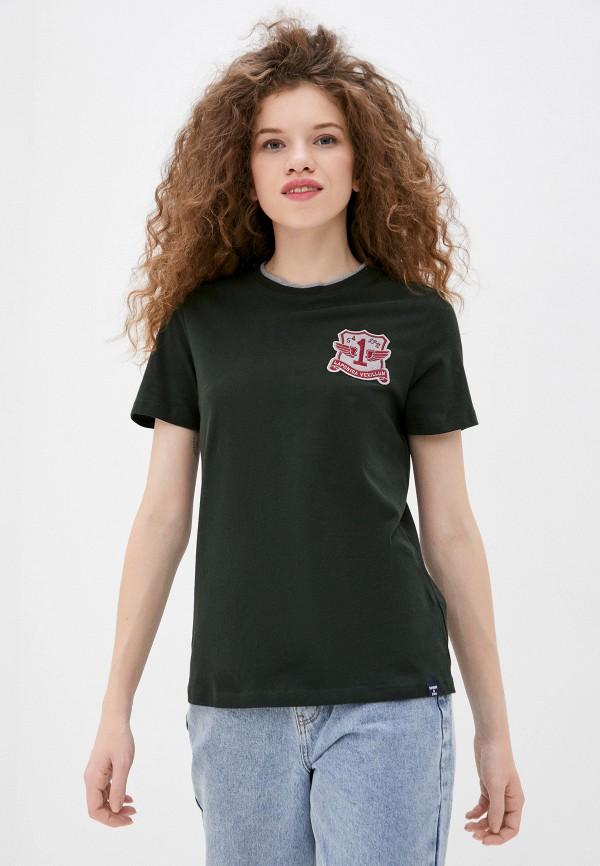 женская футболка superdry, зеленая