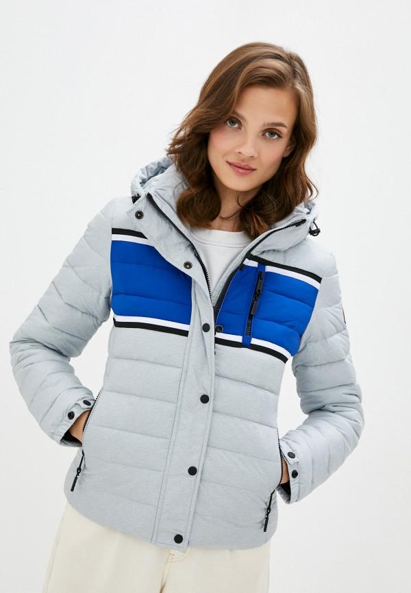 женская куртка superdry, серая