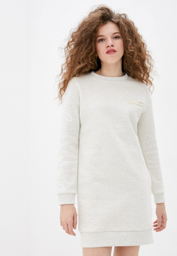 женское платье superdry, бежевое