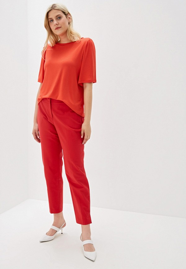 Фото 2 - женскую футболку Svesta красного цвета