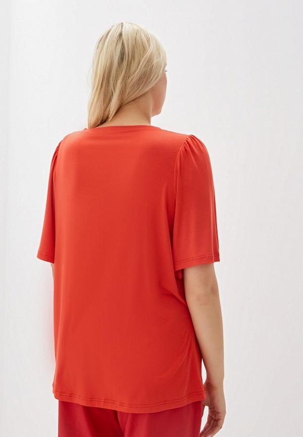 Фото 3 - женскую футболку Svesta красного цвета