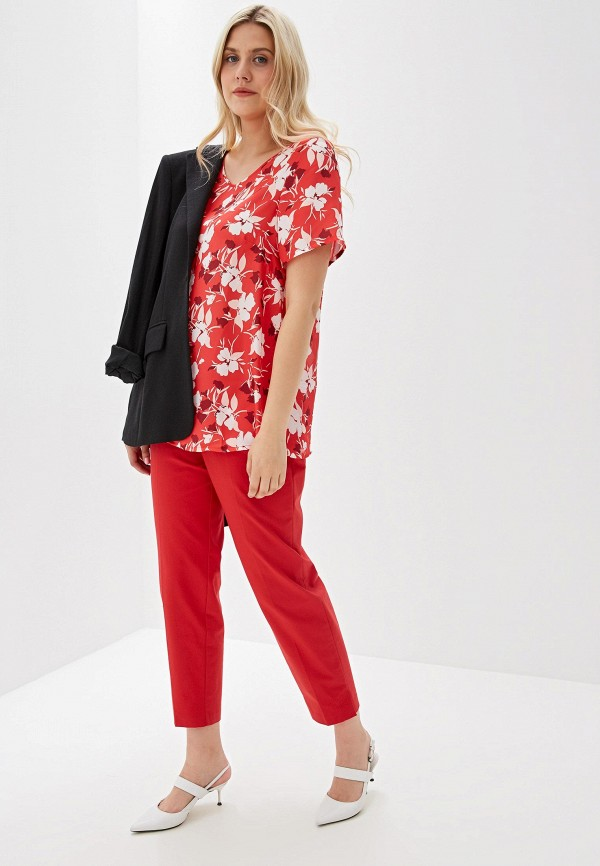 Фото 2 - женскую блузку Svesta красного цвета