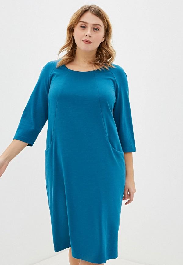 женское повседневные платье svesta, голубое
