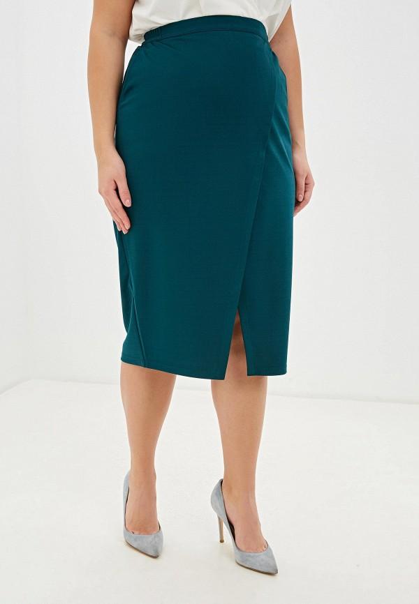 женская прямые юбка svesta, зеленая
