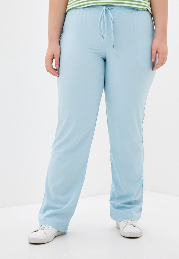 женские прямые брюки svesta, голубые