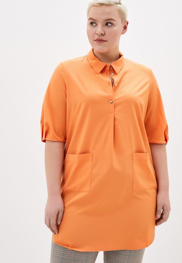 женская блузка svesta, оранжевая