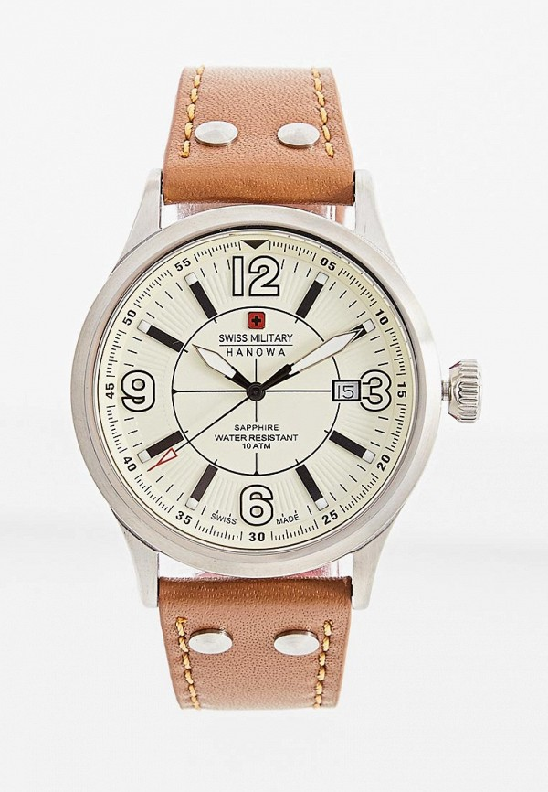мужские часы swiss military, коричневые