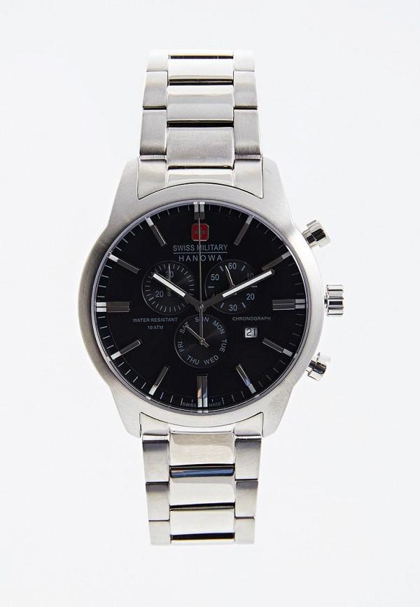 мужские часы swiss military hanowa, серебряные