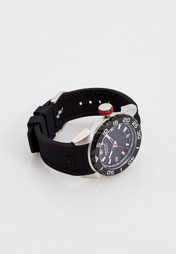 Часы Swiss Military Hanowa, цвет черный 06-4323.04.007.04. Цена: 24999 р. Коллекция: Осень-зима 2020/2021, Пол: men, Сезонность: мульти, Страна-изготовитель: Швейцария - фото 3