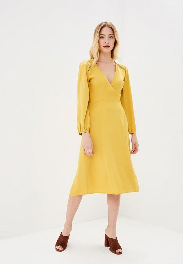 Купить Платье Sweewe, sw007ewbjth5, желтый, Весна-лето 2018